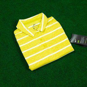 NWT Nike Yellow/White Stripes Sleeveless Polo